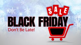 Black Friday Sale Don't be Late with Snowflakes