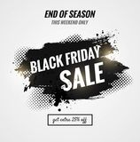 Black friday sale dynamic banner. Sale poster with brush strokes.    Vector illustration Stock Photo