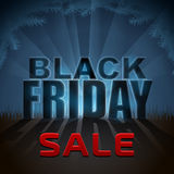 Black Friday sale element with back light effect Royalty Free Stock Photos