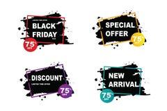 Black Friday Sale Elements Set Vector Stock Photos