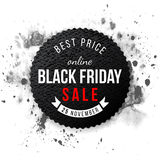 Black friday sale 2015 emblem. On watercolor background vector illustration