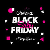 Black Friday sale enjoy style heading design for banner or poste. R. Sale and Discounts Concept. Vector illustration Stock Photo