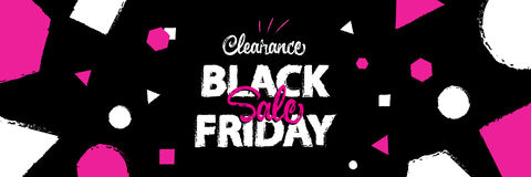 Black Friday sale enjoy style heading design for banner or poste. R. Sale and Discounts Concept. Vector illustration Stock Photos