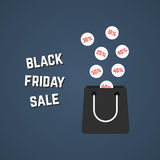 Black friday sale with falling prices Royalty Free Stock Images