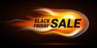 Black friday Sale Fire Burn template royalty free illustration