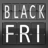 Black Friday Sale-Flip Clock stock photography