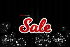 Black Friday Sale garnering med ett abstrakt begrepp blänker bakgrund Arkivfoton