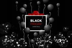 Black Friday Sale garnering med ett abstrakt begrepp blänker bakgrund Royaltyfri Foto