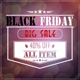 Black Friday sale on glowing background Stock Photography