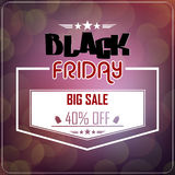 Black Friday sale on glowing background Stock Image