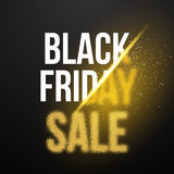 Black Friday Sale Gold Explosion Poster. Black Friday Blackwork Royalty Free Stock Images