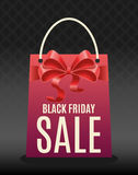Black Friday Sale graphic with shopping bag Stock Photography