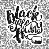 Black Friday sale hand lettering banner. Royalty Free Stock Photography