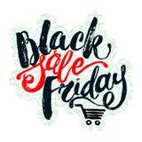 Black Friday sale hand lettering banner. Stock Images