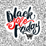 Black Friday sale hand lettering banner. Stock Images