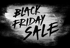 Black friday sale hand paint poster banner Royalty Free Stock Image