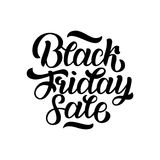 Black Friday Sale handmade lettering  Royalty Free Stock Photography
