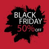 Black Friday Sale handmade lettering, calligraphy with film grain, noise, dotwork, grunge texture and dark background Stock Photography