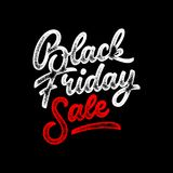 Black Friday Sale Lettering Badge Stock Photography