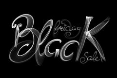 Black Friday Sale handmade lettering, calligraphy made wit fire, grunge texture and light background for logo, banners, labels, ba. Dges, prints, posters, web Royalty Free Stock Photography
