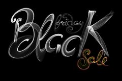 Black Friday Sale handmade lettering, calligraphy made wit fire, grunge texture and light background for logo, banners, labels, ba. Dges, prints, posters, web Stock Images