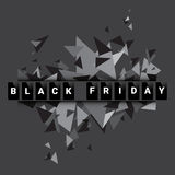 Black Friday Sale Holiday Shopping Banner Copy Space Stock Image