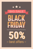 Black Friday Sale Holiday Shopping Banner Copy Space Royalty Free Stock Images
