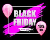 Black Friday Sale horisontalbaner Arkivbild