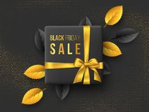 Black Friday sale horizontal poster or banner. vector illustration