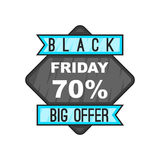 70 Black Friday sale. icon, cartoon style. Discount 70 Black Friday sale. icon in cartoon style isolated on white background vector illustration Royalty Free Stock Photo