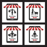 Black friday sale icon Royalty Free Stock Photography