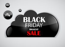 Black Friday Sale Icon Vector Illustration Royalty Free Stock Images