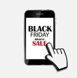 Black Friday Sale Icon Vector Illustration Stock Image