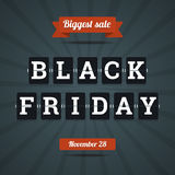 Black friday sale illustration.. Black friday sale illustration in flat style Vector Illustration