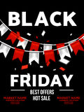 Black friday sale illustration vector design template. poster, banner.  Stock Photos