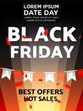 Black friday sale illustration vector design template. poster, banner.  Stock Image