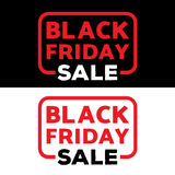 Black friday sale illustration vector design template. poster, banner.  Royalty Free Stock Image