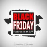 Black Friday sale inscription. Black Friday banner design template . Vector illustration Royalty Free Stock Images