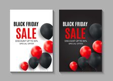 Black Friday Sale Inscription Banner Design Template. Vector illustration stock illustration