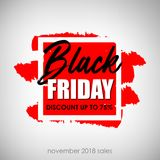 Black friday sale inscription. Black friday banner design template. Flat designed calligraphic poster. Black friday sale inscription. Black friday banner design Royalty Free Stock Images