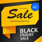 Black Friday sale inscription design banner. Super Sale shining banner on colorful background. Sale vector banner template design. Black Friday sale inscription Stock Photography