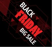 Black Friday sale inscription design banner. Vector illustration Royalty Free Stock Photos