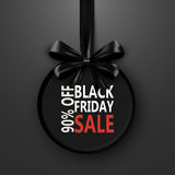 Black Friday sale inscription design template. banner with bow ribbon. Discount special off . Shopping promotion poster Royalty Free Stock Photo