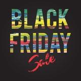 Black Friday sale inscription design template. Black Friday banner. Vector illustration Royalty Free Stock Photo