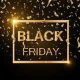 Black Friday sale inscription design template. Black Friday banner. Vector illustration. EPS 10 Stock Photography