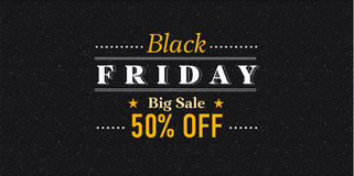Black Friday sale inscription design template. Black Friday banner. Vector illustration. Stock Images