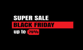 Black Friday sale inscription design template. Black Friday banner stock photo