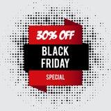 Black Friday sale inscription design template. Black Friday banner. Vector illustration Royalty Free Stock Image