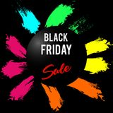 Black Friday sale inscription design template. Black Friday banner. Vector illustration Royalty Free Stock Photography