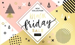 Black Friday sale inscription design template Royalty Free Stock Photography